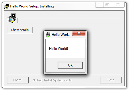 NSIS HelloWorld Installer